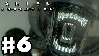 Alien: Isolation - Gameplay Walkthrough Part 6 - Alien Attacks! (PC Gameplay with Facecam)