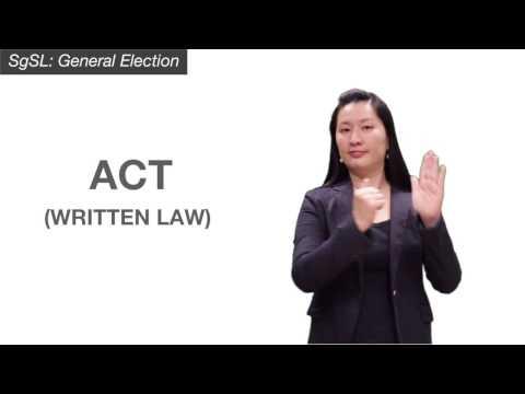 SgSL: General Election - Act