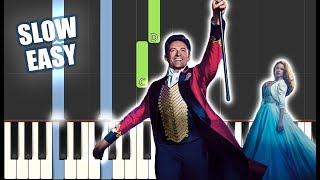 Download lagu A Million Dreams - The Greatest Showman Cast   SLOW EASY PIANO TUTORIAL+ SHEET MUSIC by Betacustic
