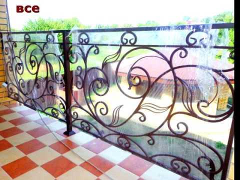 Кованые перила для балкона в частном доме лоджия ковка из металла в Днепропетровске