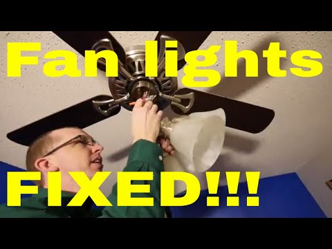 DIY - Easy ceiling fan light diagnosis and repair!