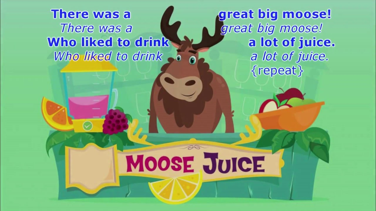There was a great big moose lyrics