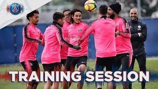 ? Les 15 premières minutes d'entraînement avant avant Paris Saint-Germain  OGC Nice