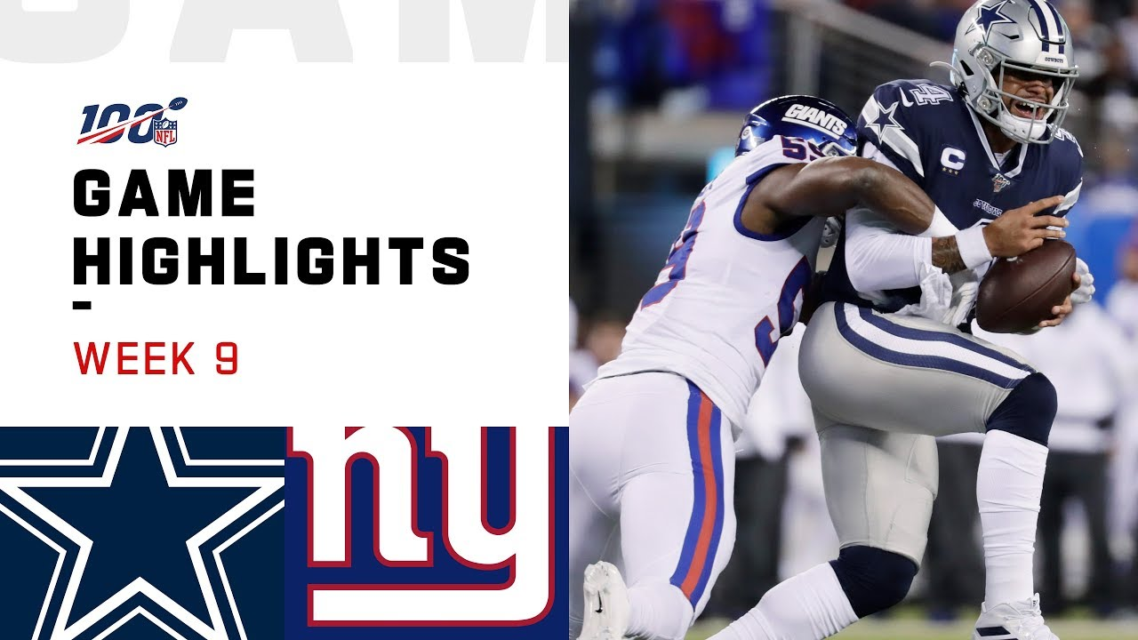 Cowboys Vs Giants Week 9 Highlights Nfl 2019