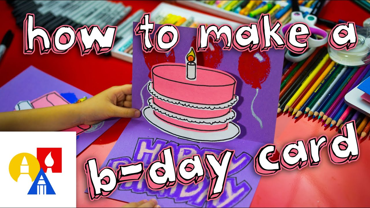 How To Make A Pop Up Birthday Card YouTube – Birthday Cards for Kids