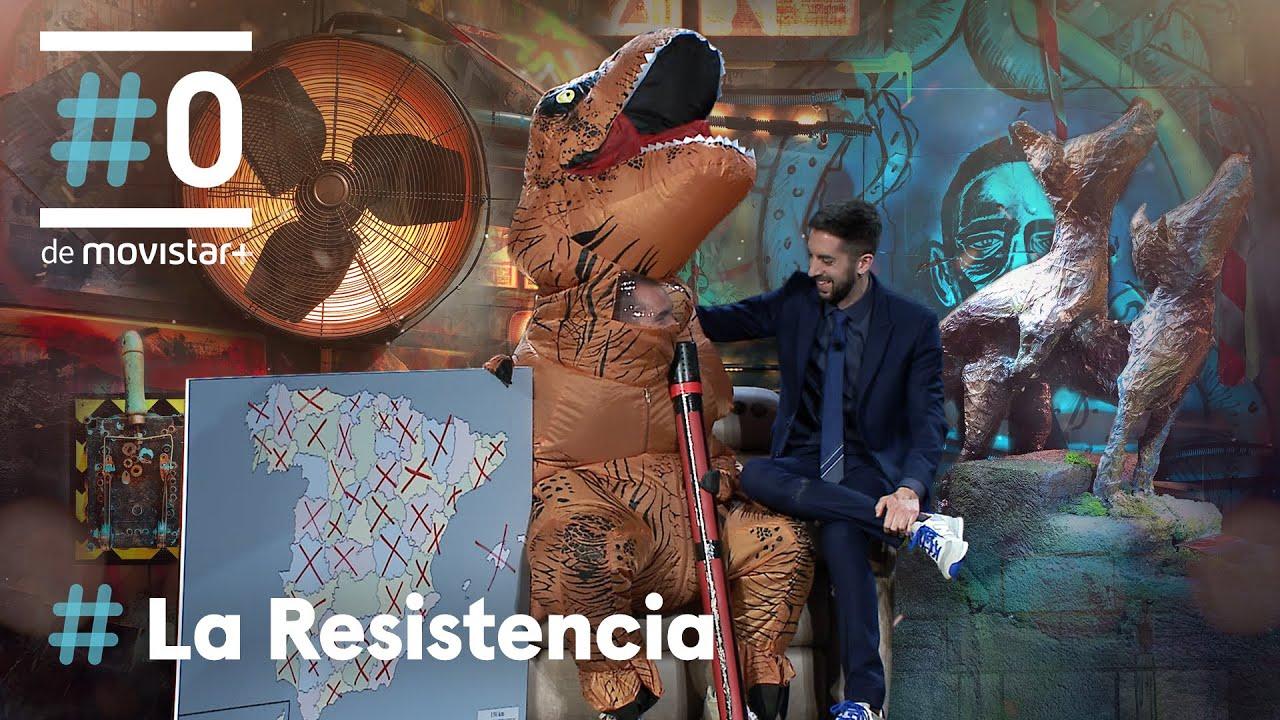 LA RESISTENCIA - Jorge Ponce se disfraza de dinosaurio | #LaResistencia 15.04.2021
