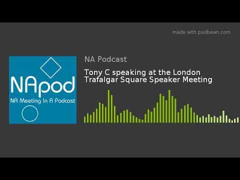 Tony C speaking at the London Trafalgar Square Speaker Meeting