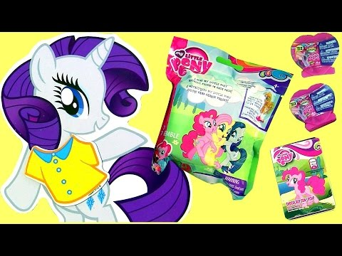 My Little Pony Magnetic Wooden Dress Up Doll + SURPRISE TOYS Fashems Squishy POPs Heart Toys