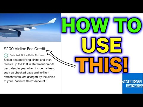 How To Use American Express Airline Incidental Fee Credits