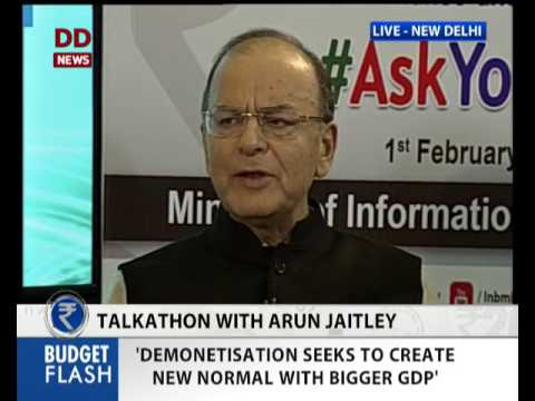 FM Arun Jaitley Answers Queries LIVE on Talkathon