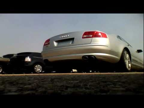 2007-audi-s8-v10-start-up,-quick-tour,-&-rev-with-exhaust-view---71k