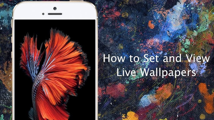 How To Set Live Wallpapers On Iphone 6s And Iphone 6s Plus Iphone Hacks Youtube