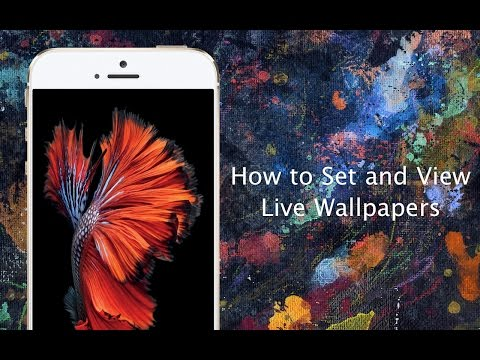 How to set Live Wallpapers on iPhone 6s and iPhone 6s Plus - YouTube