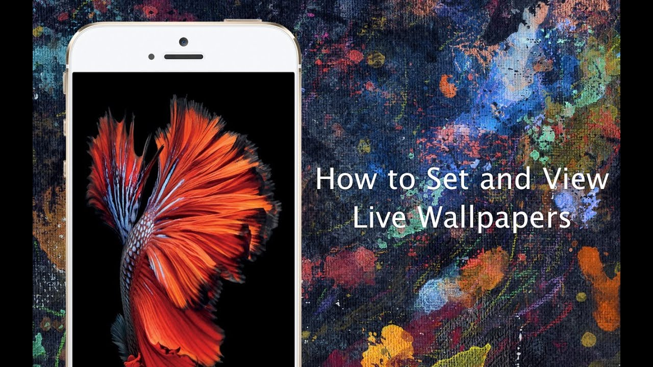 How to set Live Wallpapers on iPhone 6s and iPhone 6s Plus - iPhone Hacks - YouTube