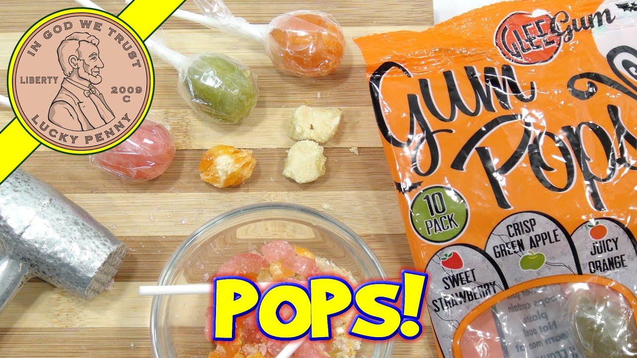 Glee Gum Candy Lollipops 100% Natural - Strawberry, Apple & Orange