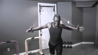 Insane Resistance Band Workout. Tricep, shoulder & Chest