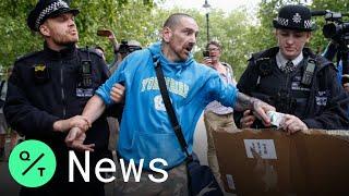 Dozens Protest Against U.K. Coronavirus Lockdowns In London's Hyde Park
