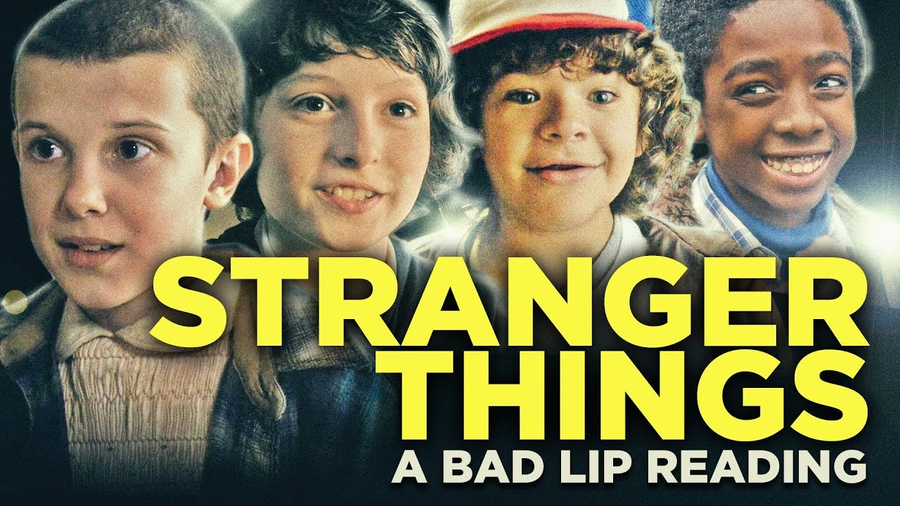 stranger things a bad lip reading youtube