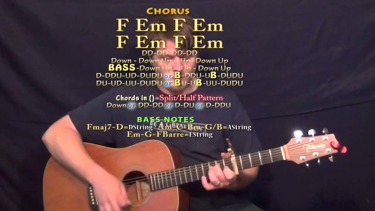 Hotline Bling Drake Guitar Lesson Chord Chart Capo 5th Youtube