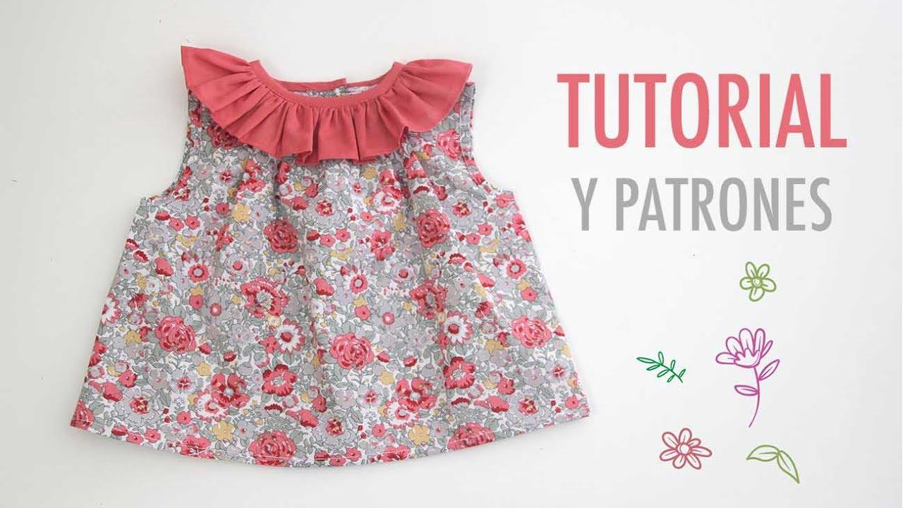 5e9274c7f DIY Como hacer blusa con volante para niñas(patrones gratis)