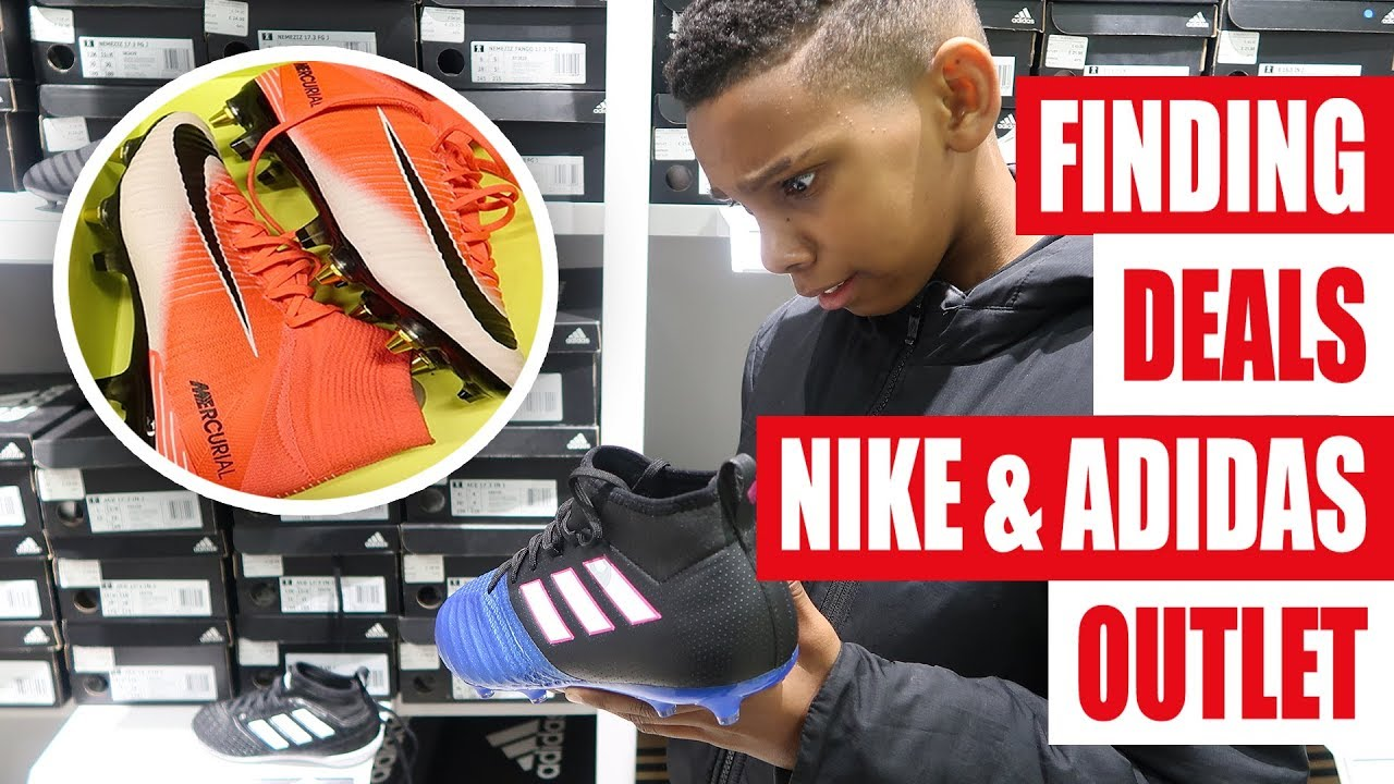 grieta realidad distrito  CRAZY DEALS!!! adidas & Nike Outlet Football Boots/Soccer Cleats Shopping -  YouTube