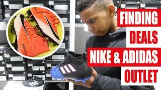 CRAZY DEALS!!! adidas & Nike Outlet Football Boots/Soccer Cleats Shopping