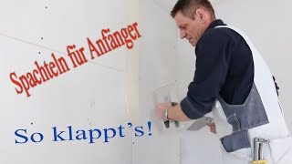 Spachteln einer Trockenbauwand / Finishing a Drywall Joint / Hobein