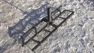 Розміри саморобної борони для мотоблока./Dimensions homemade harrows for motoblock