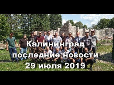 Калининград. Последние новости 29 07 2019 г.