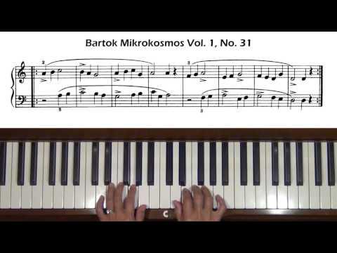 Bartok Mikrokosmos Vol. 1, No. 29 to No. 32 Piano Tutorial
