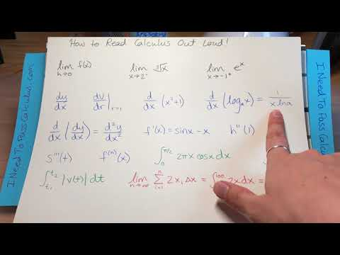 HOW TO READ CALCULUS OUT LOUD! | LIMITS, DERIVATIVES & INTEGRAL SYMBOLS