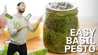 Easy Basil Pesto   Hurry The Food Up