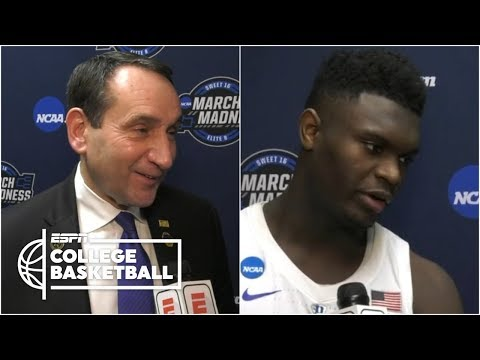 Duke's Coach K, Zion Williamson on advancing to Elite Eight | College Basketball Interview