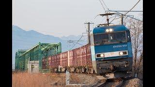春休みの篠ノ井線 EF64EH200貨物 おはようライナー 115系 2018032931