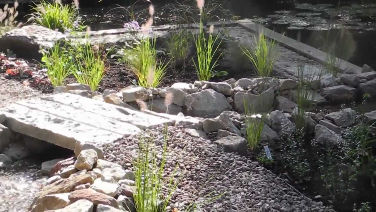 Nieuwe beekloop door tuinen teksten youtube for Waterval vijver aanleggen