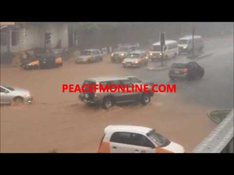 Accra Floods After Heavy Downpour At Circle