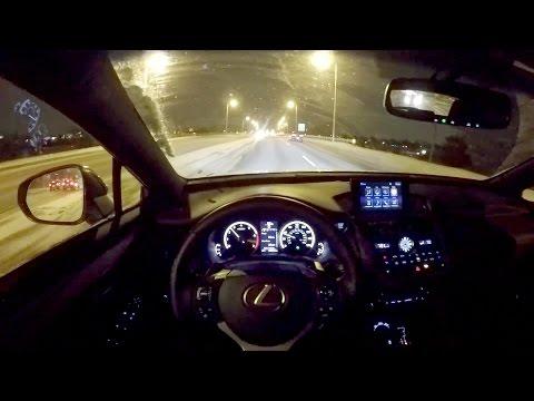 2016 Lexus NX 200t F Sport WR TV POV Night Drive