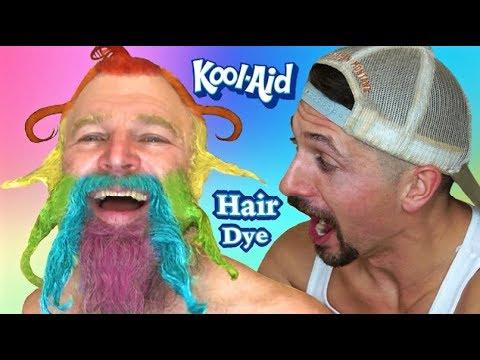 KOOL AID Hair And Beard Dye! Makeover/Vlog