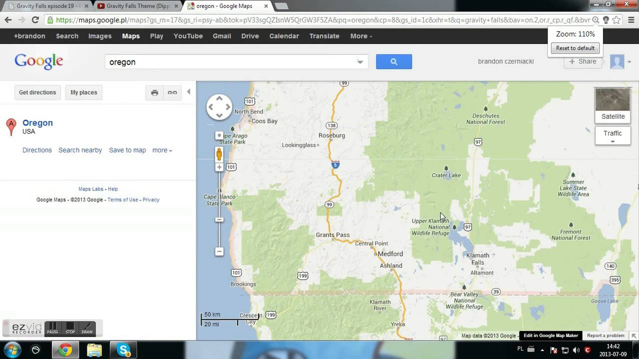 Gravity Falls Oregon Map I FOUND REAL LIFE