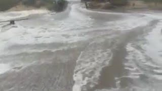 Hurricane Florence creating storm surge in Outer Banks