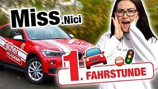 Erste Fahrstunde mit MissNici 🚦 | Fischer Academy