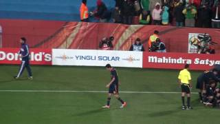 paraguay vs spain 0 1 david villa 83 goal south africa 2010 fifa world cup