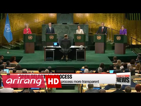UN Secretary-General candidates take part in live televised debate for first time ever