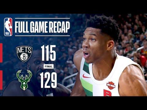 Bucks - Bucks tops Nets 129-115 behind Giannis Antetokounmpo's triple-double