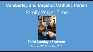 Family Prayer Time for 3rd Sunday of Advent