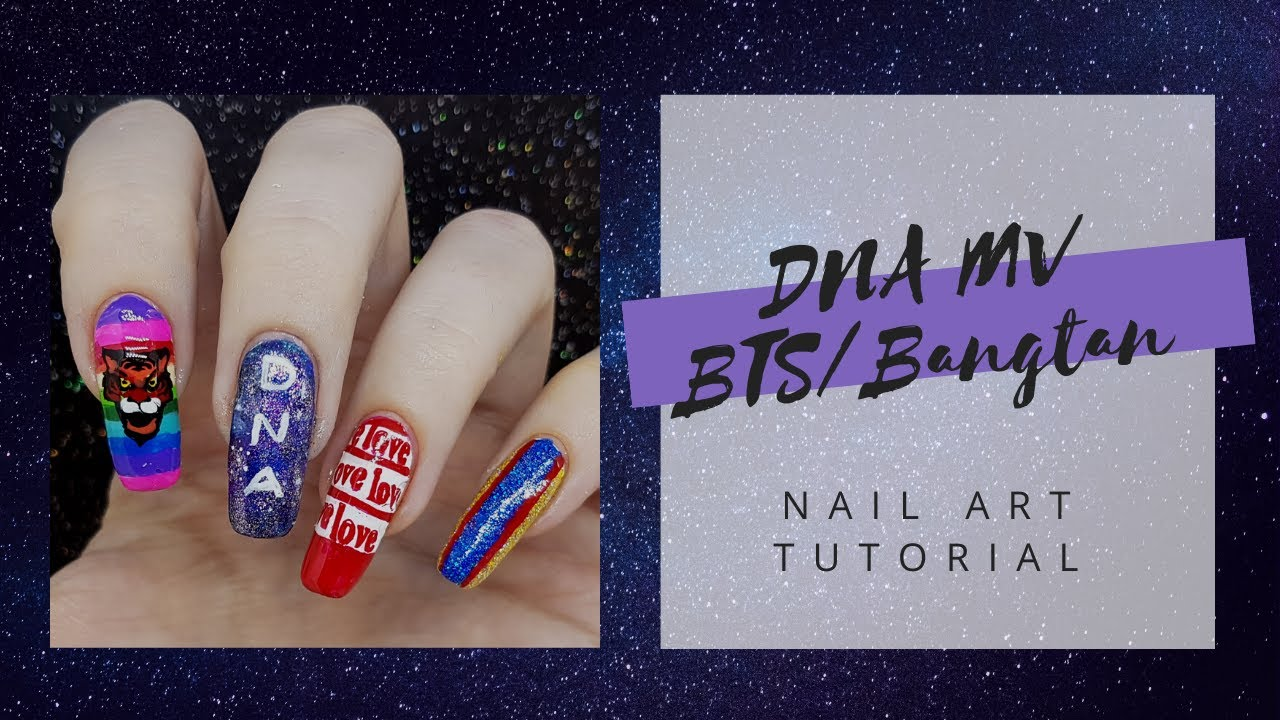 Bts Bangtan Sonyeondan Dna Music Video Nails Nail Art Tutorial