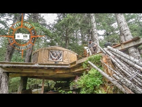 Off The Grid Tiny House Treehouse & Yurt Built In The Alaskan Wilderness