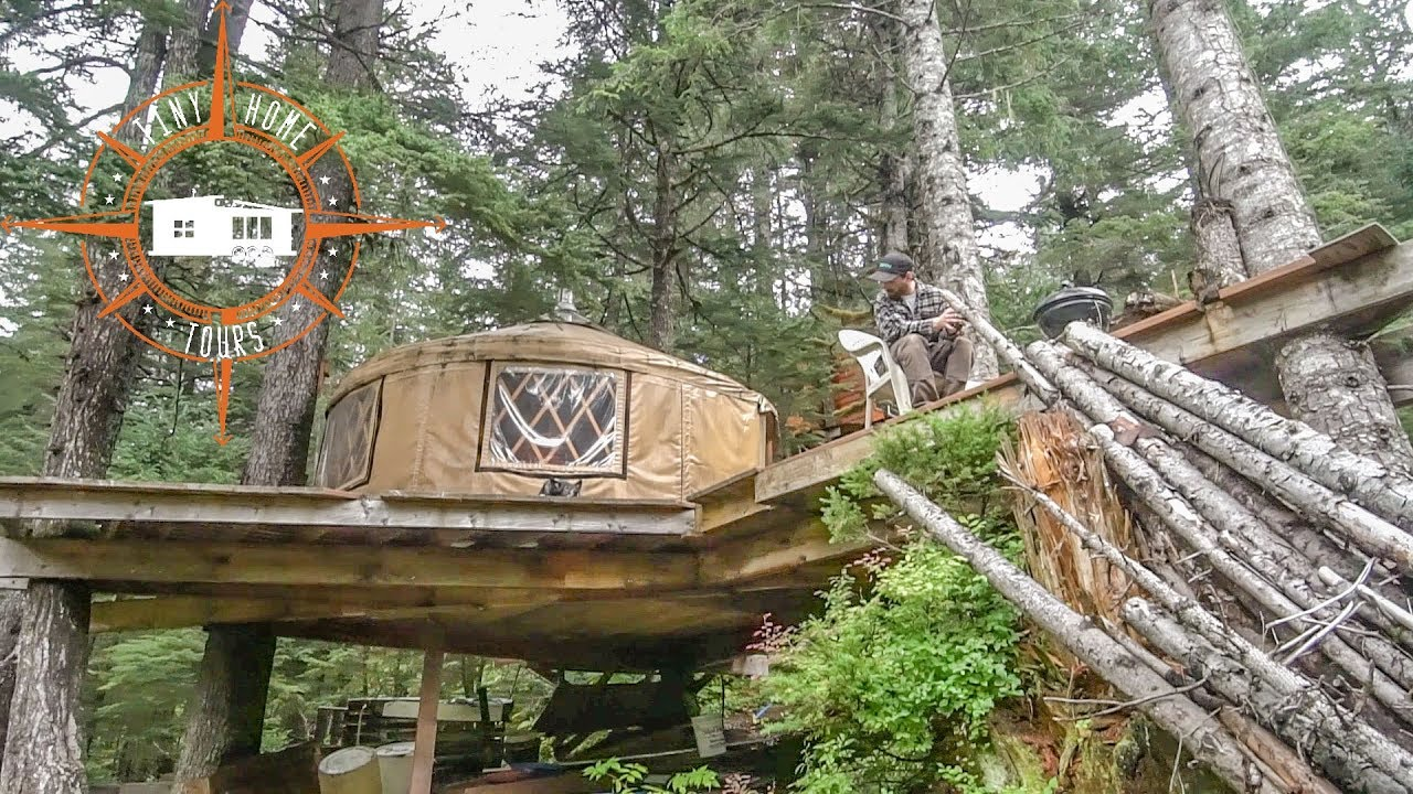 Off The Grid Tiny House Treehouse Yurt Built In The Alaskan