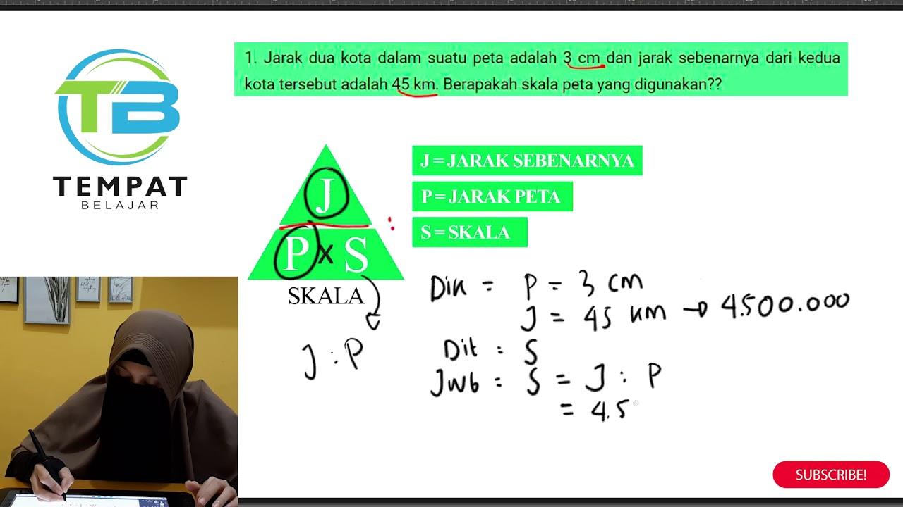 matematika mudah, tips menghitung skala dan jarak