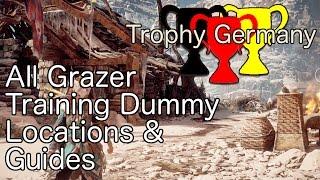horizon zero dawn all grazer training dummy locations guides trophy